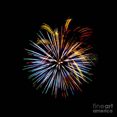 Photograph - Fireworks In Multi-color by Grace Grogan