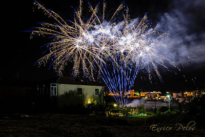 Photograph - Fireworks In The Garden by Enrico Pelos