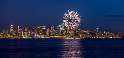 Fireworks In Vancouver City Art Print by Pierre Leclerc Photography