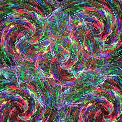 Fireworks Art Print by Krazee Kustom