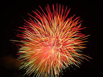 Fireworks  Art Print by Michael Porchik