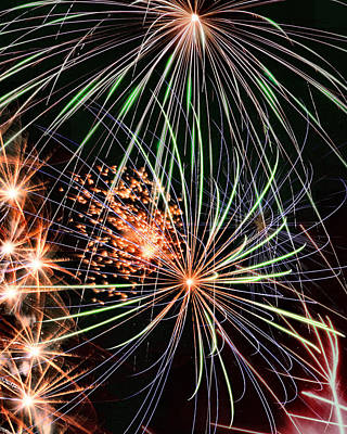 Photograph - Fireworks 2 by Acadia Photography