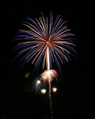 Photograph - Fireworks 3 by Acadia Photography