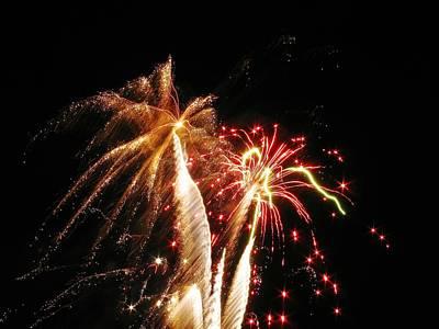 Fireworks On Display Art Print by Steven Parker