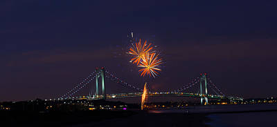 Photograph - Fireworks On Staten Island South Beach by Kenneth Cole