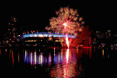 Photograph - Fireworks Over Bc Place by Brian Chase