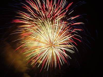 Photograph - Fireworks Over Chesterbrook by Michael Porchik