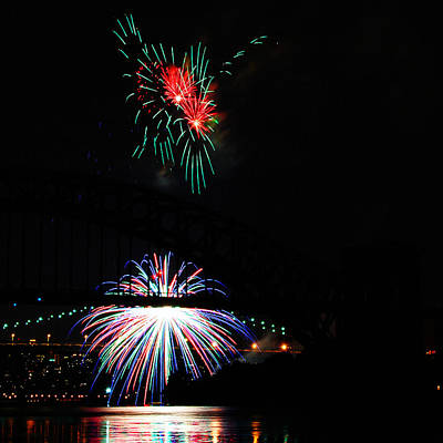 Photograph - Fireworks Over Hells Gate by Jim Poulos