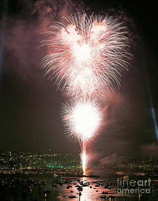 Fireworks Over Seattle Print by Jim Corwin