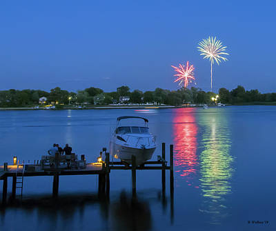 Stoney Creek Photograph - Fireworks Over Stony Creek by Brian Wallace