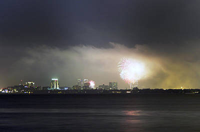 Fireworks Over Tampa Bay Original by William Ragan