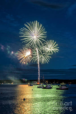Photograph - Fireworks Over The Bay by Alana Ranney