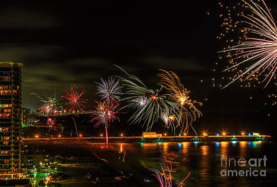 Photograph - Fireworks Over The Grand Strand by Mark East