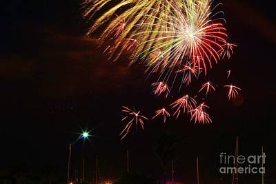 Photograph - Fireworks Over The Marina by Lynda Dawson-Youngclaus