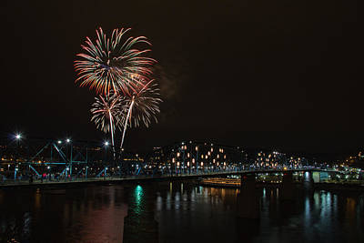 Fireworks Over The Tennessee River Art Print
