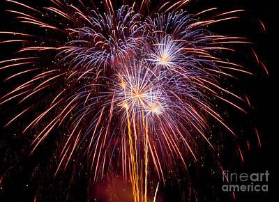 Fireworks Art Print by Philip Pound