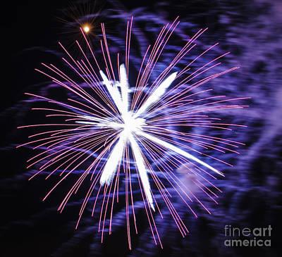 Fireworks Pink Art Print by Katja Zuske