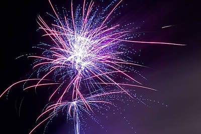 Photograph - Fireworks - Purple Haze by Scott Lyons