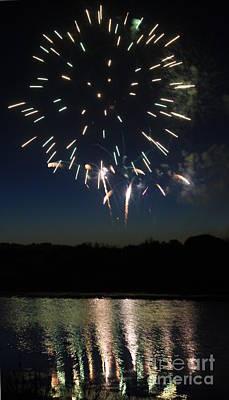 Photograph - Fireworks Reflection I by Amanda Holmes Tzafrir