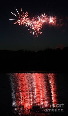 Photograph - Fireworks Reflection II by Amanda Holmes Tzafrir