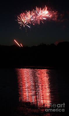 Photograph - Fireworks Reflection Iv by Amanda Holmes Tzafrir