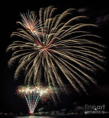 Photograph - Fireworks by Ronald Grogan