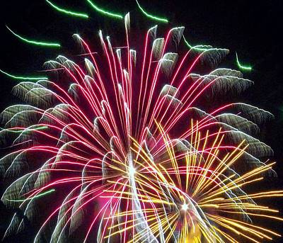 Photograph - Fireworks by Shirley Moravec