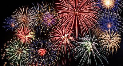 Blend Photograph - Fireworks Spectacular IIi by Ricky Barnard