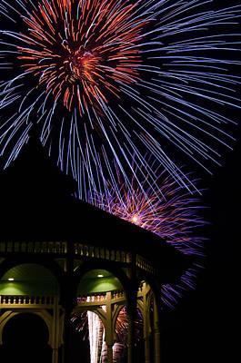 Photograph - Fireworks by Steve Myrick