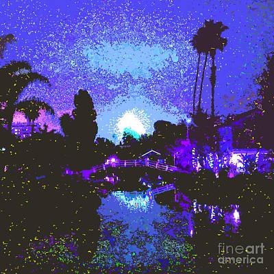 Fireworks Venice California Original by Jerome Stumphauzer