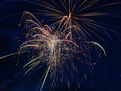 Photograph - Fireworks by William Johnson