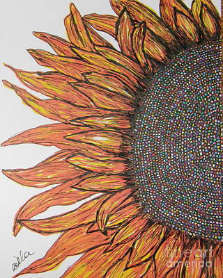Painting - Firey Sunflower by Marcia Weller-Wenbert