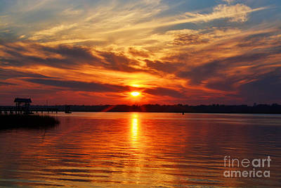 Photograph - Firey Sunset by Kathy Baccari