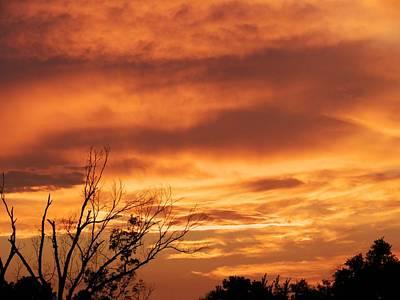 Firey Sunset Art Print by Robert Brown