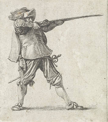 Firing His Gun, Dirk Maas Art Print