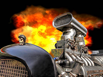 Ford Hotrod Photograph - Firing Up The Rat Rod by Gill Billington