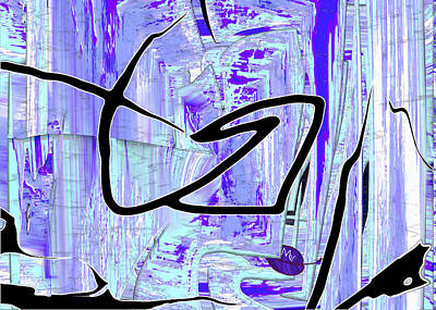 Firmament Cracked #2 - Paper Sky Art Print by Mathilde Vhargon