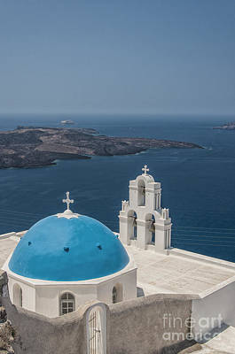 Agios Photograph - Firostefani Church On Santorini by Antony McAulay
