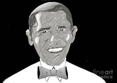 Drawing - First African American President by Belinda Threeths