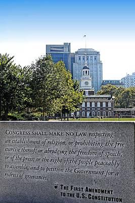 Northeast Philly Photograph - First Amendment by DJ Florek
