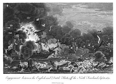 North Sea Painting - First Anglo-dutch War, 1652 by Granger