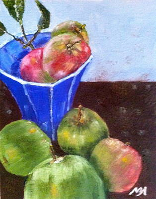 Painting - First Apples by MaryAnne Ardito