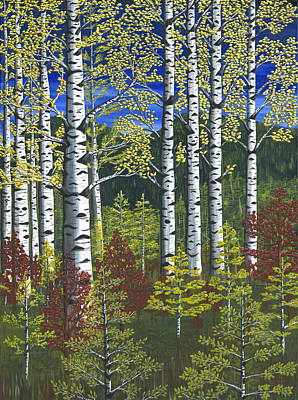 Painting - First Aspens by Rebecca Parker