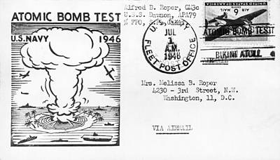 Single Object Photograph - First Atomic Bomb Test by Underwood Archives