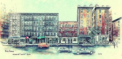 Painting - First Avenue by Nancy Brody