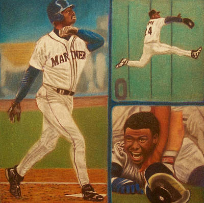 First Ballot Feat Ken Griffey Jr. Art Print by D Rogale