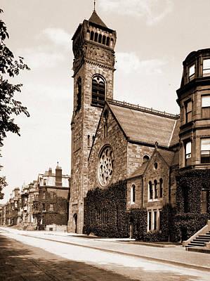 Baptist Drawing - First Baptist Church, Boston, First Baptist Church Of Boston by Litz Collection