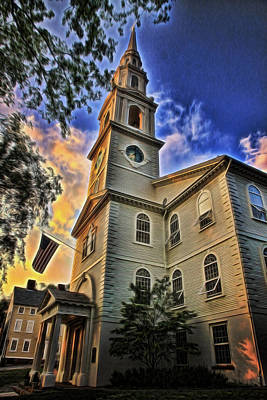 First Baptist Church In America - Providence Print by Stephen Stookey