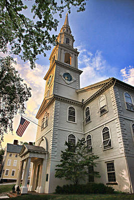First Baptist Church In America Art Print by Stephen Stookey