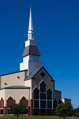 Photograph - First Baptist Church Of Pflugerville by Ed Gleichman
